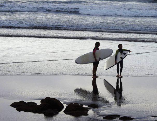 surf gran canaria atardecer