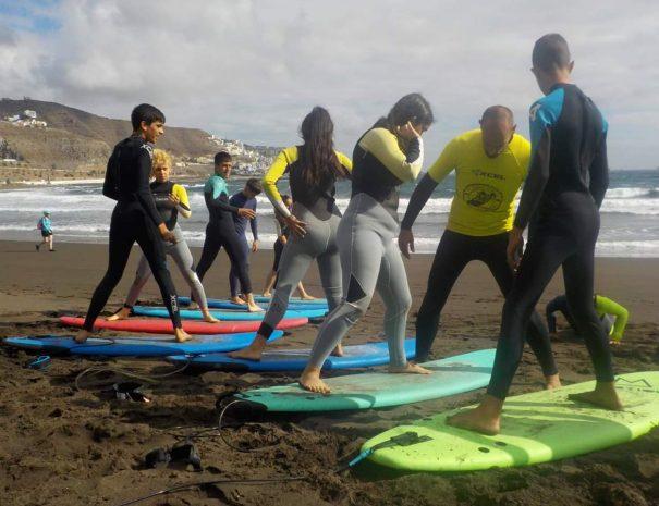 clases surf niños las palmas